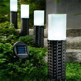 Sogrand Rattan Hand-woven Solar Pathway LED Light 4 Pack balck - Chickadee Solutions