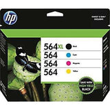 HP 564XL/564 High Yield Black and Standard C/M/Y Color Ink Cartridges (In Ret... - Chickadee Solutions - 1