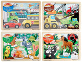 Melissa & Doug Deluxe 12 Piece Jigsaw Puzzle Bundle (Set of 4) - Chickadee Solutions - 1