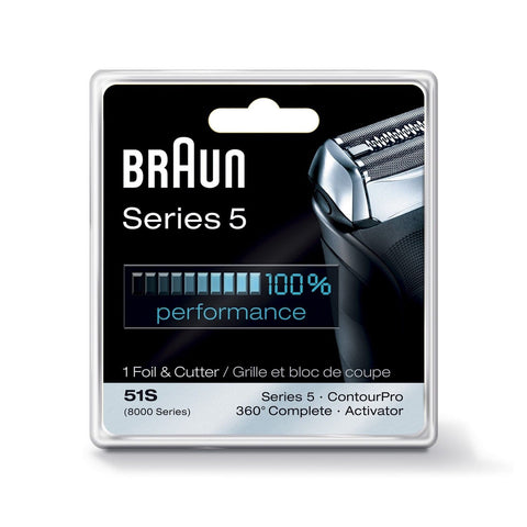 Braun Series 5 51S Foil & Cutter Replacement Head Silver - Chickadee Solutions - 1