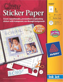 Avery Sticker Paper 8.5 x 11 Inches Clear Pack of 3 (53203) - Chickadee Solutions - 1