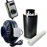 VenTech VT IF6+CF6-B Inline Exhaust Blower Fan with Carbon Filter and Variabl... - Chickadee Solutions