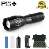 #1 Top Rated PeakPlus Brightest LED Tactical Flashlight CREE XML T6-Zoomable ... - Chickadee Solutions - 1