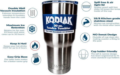 Kodiak Coolers Double Wall Vacuum Insulated Stainless