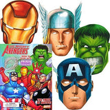 Marvel Avengers Coloring Book with 6 Avengers Masks (Pop-Out): The Incredible... - Chickadee Solutions