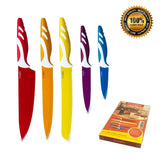LivingKit Non-Stick Knife Set 5 Pieces Stainless Steel Colorful Blades Chef S... - Chickadee Solutions - 1
