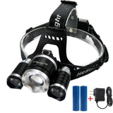 LED Headlamp Headlight Flashlight - Zoomable Super Bright 4 Modes 3 XM-L CRE... - Chickadee Solutions - 1