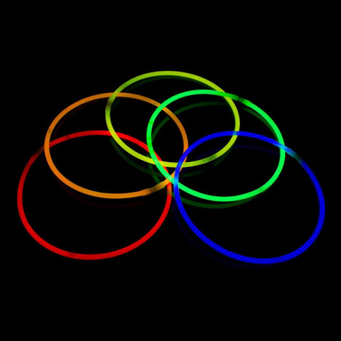 "Fun Central J6 22"" Premium Glow Stick Necklaces - Assorted Colors 50ct 50 ct - Chickadee Solutions - 1"
