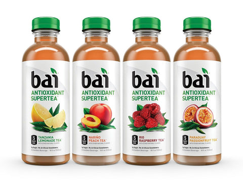 Bai Supertea Variety Pack Antioxidant Infused Tea 18 Ounce (Pack of 12) - Chickadee Solutions - 1