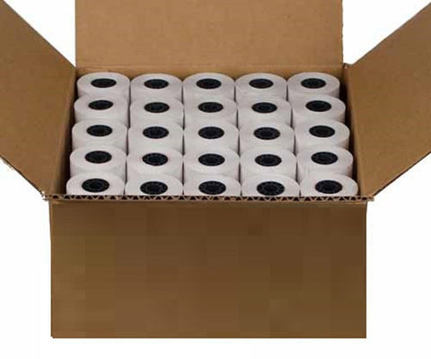 "2 1/4"" X 85' Thermal Credit Card Paper 50 Rolls Per Box for Use in Some Verif... - Chickadee Solutions"