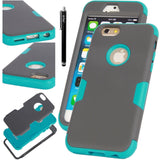 E LV Full Body Shock Absorption Hybrid Armor Protection Defender Case for App... - Chickadee Solutions - 1