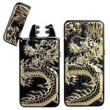 Pard Relief Dragon Windproof Cross Arc Lighter USB Rechargeable Flameless Ele... - Chickadee Solutions