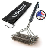 2016 Edition BBQ Grill Brush By USA Kitchen Elite - Best Barbecue Grill Clean... - Chickadee Solutions - 1
