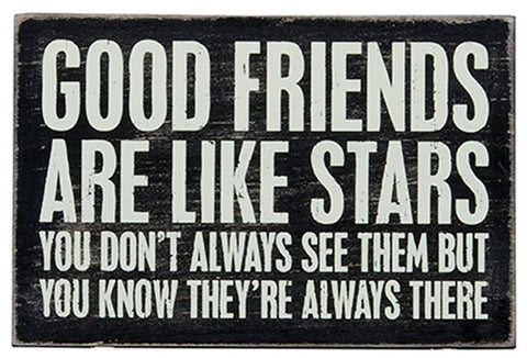 1 X Good Friends Are Like Stars - Mailable Wooden Greeting Card for Birthdays... - Chickadee Solutions - 1