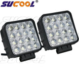 Sucool 2pcs One Pack 4 Inch Square 48w Led Work Light Off Road Flood Lights T... - Chickadee Solutions - 1