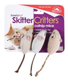 SmartyKat Skitter Critters Cat Toy Catnip Mice 3 Pack 3-Pack 1 - Chickadee Solutions - 1
