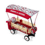 Radio Flyer Build-A-Wagon Steel & Wood - Rubber Tires Canopy Storage Seat Pad... - Chickadee Solutions - 1