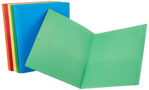 AmazonBasics Twin Pocket Letter size Folders (25 Pack) - Chickadee Solutions - 1