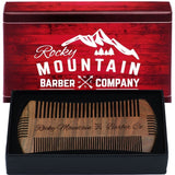 Beard Comb - Sandalwood Natural Hatchet Style Brush for Hair - Smells Amazing... - Chickadee Solutions - 1