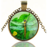 Expression Jewelry Glass Domed Antique Round Pendant Necklace - Many Designs ... - Chickadee Solutions - 1