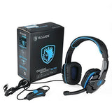 Gaming Headset Sades Sa708 Stereo Blue Gaming Headphone with Microphone for P... - Chickadee Solutions - 1