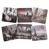 New York / NY NYC B&W Photo Beer and Drink Coaster Pack of 6 - Chickadee Solutions - 1