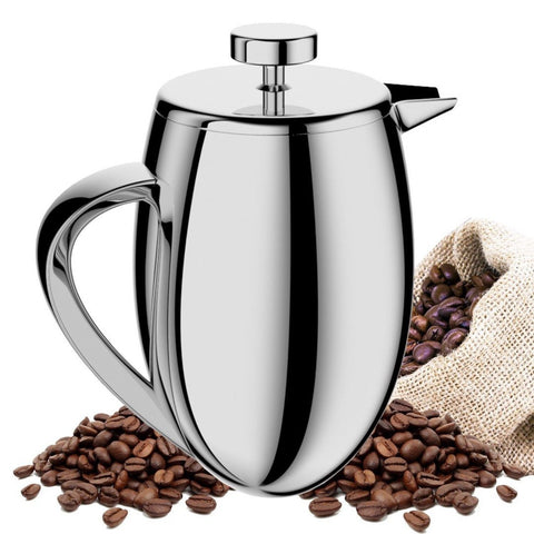 TAOindustry French Press Coffee Maker Double Wall Stainless Steel - Heat Resi... - Chickadee Solutions - 1