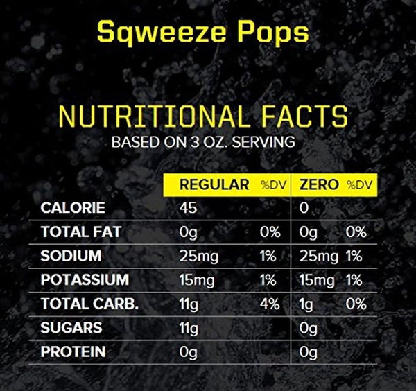 Sqwincher 3 Oz Sqweeze Electrolyte Freezer Pop Assorted
