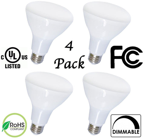4-Pack Bioluz LED Br40 17w = 120w Equiv 2700k 1400 Lumen Smooth Dimmable Lamp... - Chickadee Solutions - 1