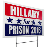 Hillary Clinton For Prison 2016 Hate Liar Funny Pro Donald Trump NEVERHILLARY... - Chickadee Solutions - 1