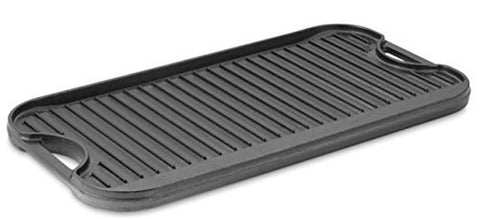 Cast-Iron Reversible Griddle / Grill 20.2 x 10.4 inches Cast Iron - Chickadee Solutions - 1