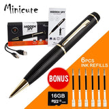 MINICUTE Hidden Camera Pen - FREE 16GB MICRO Card + BONUS 6 INK FILLS -Record... - Chickadee Solutions - 1
