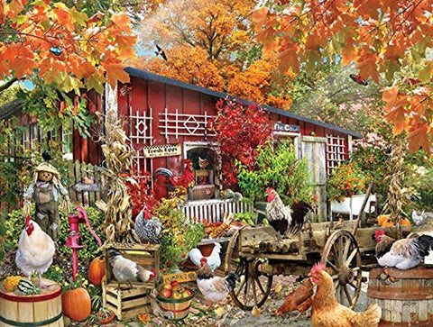 SunsOut Barnyard Chickens Jigsaw Puzzle (500-Piece) - Chickadee Solutions