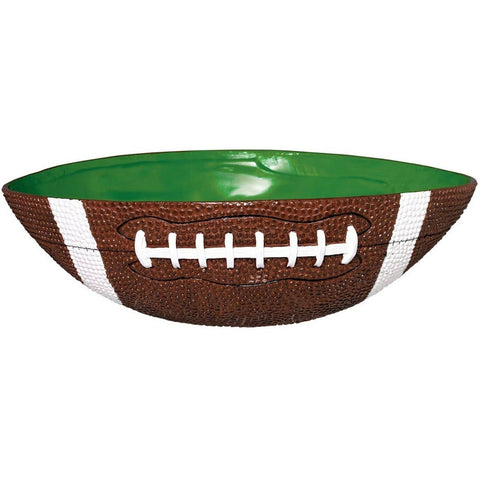 Amscan Football Frenzy Birthday Party Large Bowl (1 Piece) Green/Brown 12.4 x... - Chickadee Solutions