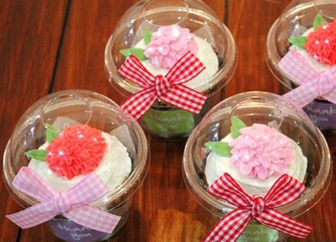 20 Clear Cupcake Containers [ Momoka's Apron ] - Chickadee Solutions - 1