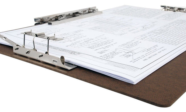 Inches hardboard clipboard with inch hinge