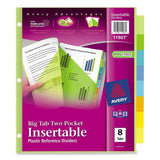 Avery Big Tab Two-Pocket Insertable Plastic Dividers 8-Tabs 1 Set (11907) - Chickadee Solutions - 1
