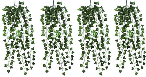 4 Bunchs Home Garden Wall Decoration Outdoor Atificial Fake Hanging Vine Plan... - Chickadee Solutions - 1