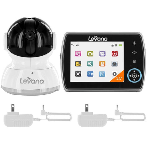 levana keera 3 5 pan titlt zoom video baby monitor with picture video r. Black Bedroom Furniture Sets. Home Design Ideas