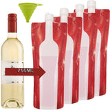 Accmor Portable Wine Bag Flask with A Foldable Funnel- Reusable Flexible and ... - Chickadee Solutions - 1