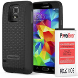 PowerBear Samsung Galaxy S5 7800mAh Extended Battery & Back Cover & Protectiv... - Chickadee Solutions - 1