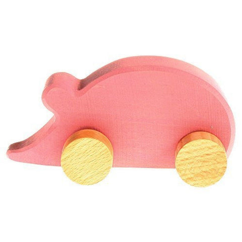 Grimm's Baby's First Moving Animal - Classic Wooden European Push Toy Mouse - Chickadee Solutions - 1