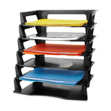 Rubbermaid Regeneration Plastic Letter Tray 6 Pack (86028) Black - Chickadee Solutions - 1