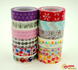 IDIO 12x Decorative Washi Set of 12 Japanese Washi Masking Tape Collection Pr... - Chickadee Solutions - 1