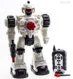 WolVol Remote Control Robot Police Toy with Flashing Lights and Sounds - Chickadee Solutions - 1