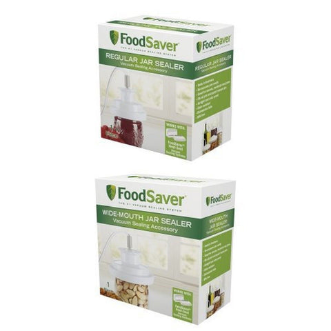 FoodSaver T03-0006-02P Regular-Mouth Jar Sealer and Wide-Mouth Jar Sealer Bun... - Chickadee Solutions