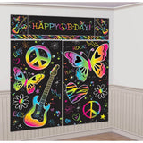 "Amscan Neon Birthday Party Scene Setter Wall Decorating Kit (5 Pack) 59"" x 65... - Chickadee Solutions"
