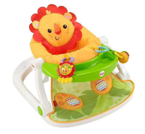Fisher-Price Sit-Me-Up Floor Seat with Tray Orange Fisher-Price CBV48 - Chickadee Solutions - 1