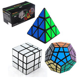 3-Pack Populer Magic Cube Puzzle - Included Pyraminx Speedcubing Black Puzzle... - Chickadee Solutions - 1