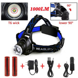 Ultra-Bright Headlamp with Rechargeable Batteries DLAND LED Light Waterproof ... - Chickadee Solutions - 1